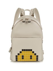 Anya Hindmarch Pixel Smiley Mini Leather Backpack