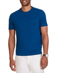 Nautica Cotton Stretch Crewneck Tee Blue