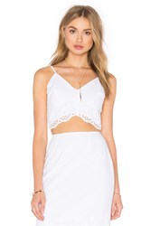 De Lacy Ruby Crop Top White