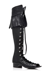 Philosophy Di Lorenzo Serafini Fringe Lace Up Boots Black