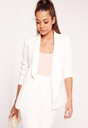 Missguided Fitted Tailored Blazer Suit White White