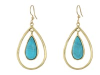 Karen Kane Resin Sky And Sea Nesting Teardrop Earrings Turquoise Earring Blue