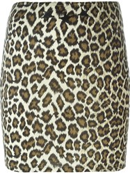 Jean Paul Gaultier Vintage Leopard Print Skirt Nude And Neutrals