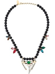 Iosselliani 'Geometric Floral' Necklace Black