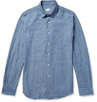 Incotex Slim Fit Cotton Chambray Shirt Blue