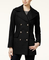 Bcbgeneration Pleated Military Peacoat Black
