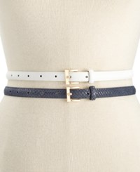 Styleandco. Style And Co. 2 For 1 Smooth Texture Belt