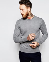 Paul Smith Jeans Jumper With Zebra And Crew Neck Grey