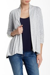 Hip Ray Slub Ruched Cardigan Gray