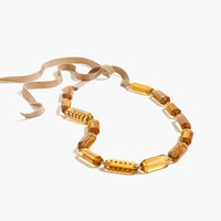 J.Crew Lucite And Pave Necklace Dark Amber