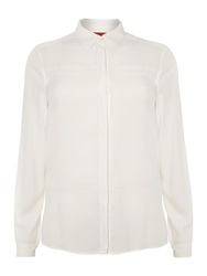 Marina Rinaldi Plus Size Badiana Long Sleeved Silk Shirt White