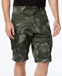 G Star Gstar Men's Camo Cargo Shorts Orphus Green