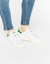 Adidas Originals Faux Snake White Velcro Stan Smith Trainers White