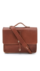 Billykirk Leather Schoolboy Satchel Cognac