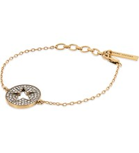 Marc Jacobs Star Charm Bracelet Crystal Antique Gold