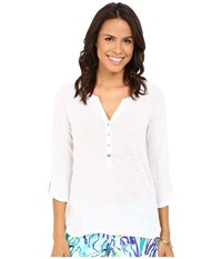 Lilly Pulitzer Egret Top Resort White Women's Clothing
