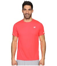 New Balance Nb Ice Short Sleeve Top Bright Cherry Men's Short Sleeve Pullover Red