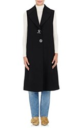 Off White C O Virgil Abloh Women's Melton Long Vest Black