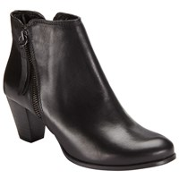 John Lewis Poloma Side Zip Ankle Boots Black