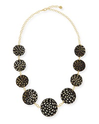 Nest Jewelry Spotted Horn Disc Necklace Dark Brown