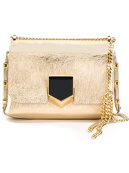 Jimmy Choo 'Lockett' Shoulder Bag Metallic