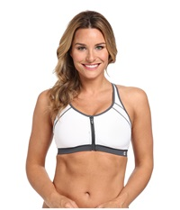 Champion The Zip Bra White Gray Women's Bra