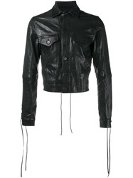 Haider Ackermann Fringed Cropped Jacket Black