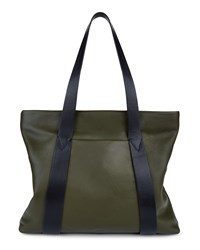 Jaeger Newington Leather Tote Green