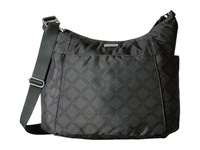 Baggallini Hobo Tote Charcoal Link Cross Body Handbags Black