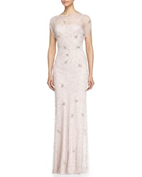 Jenny Packham Firework Beaded Cap Sleeve Gown
