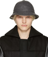 Comme Des Garcons Grey Wool Bucket Hat