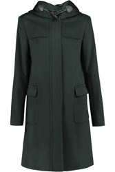 Joseph Garance Hooded Wool And Cashmere Blend Coat Green