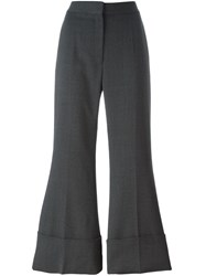 Stella Mccartney Cropped Flared Trousers Grey
