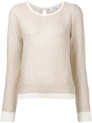 Parker Open Knit Top Nude And Neutrals