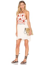Piper Sumatra Flare Mini Dress Ivory