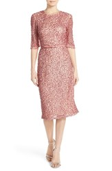 Women's French Connection Belted Sequin Mesh Midi Dress
