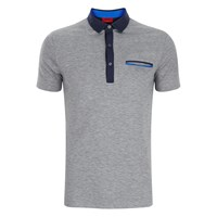 Hugo Men's Dexas Contrast Polo Shirt Grey