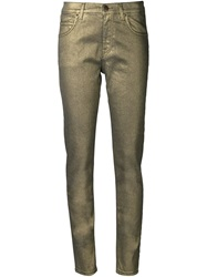 Tomas Maier Coated Slim Jeans Green