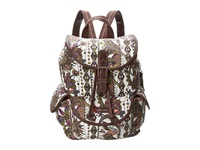 Sakroots Artist Circle Small Flap Backpack Ivory Spirit Desert Backpack Bags Multi