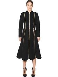 Salvatore Ferragamo Zippered Double Wool And Cashmere Coat