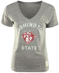 Retro Brand Women's Washington State Cougars Graphic T Shirt Gray
