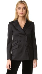 Frame Double Breasted Jacket Noir