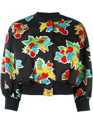 Victoria Beckham 'Fruit Basket' Bomber Jacket Black