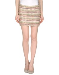 Haute Hippie Skirts Mini Skirts Women Beige