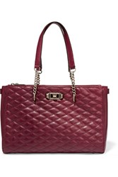 Rebecca Minkoff Love Quilted Leather Tote Red
