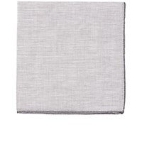 Simonnot Godard Men's Slub Weave Pocket Square Grey
