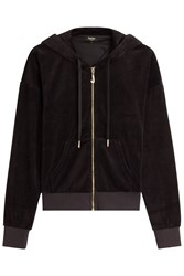 Juicy Couture J Bling Velour Hoodie Black
