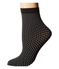 Wolford Cilou Socks Black White Women's Crew Cut Socks Shoes