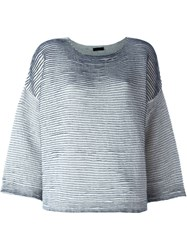 Roberto Collina Boxy Striped Top Nude And Neutrals