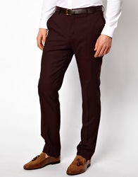 Peter Werth Suit Trousers In Burgundy Oxblood